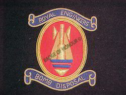 Bomb Disposal Royal Engineers Blazer Badges
