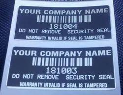 Custom Printed Tamper Proof Label