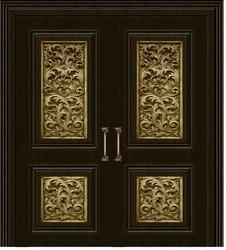 Modern Brass Door