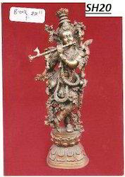 Vaah Brass Krishna Statues