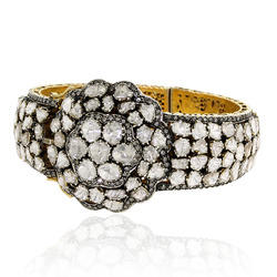 Rose Cut Diamond Antique Bangle Jewelry