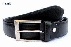 Men Black Leather Belts