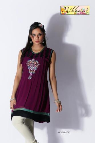 Designer Party Wear Short Kurta