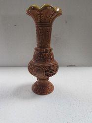 Kadam Wood Carving Flower Vase