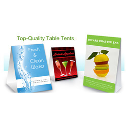 Tent Card Printing Service In Gurgaon - Table tent card printing