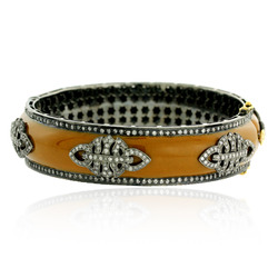 Pave Diamond Enamel Bangles Jewelry