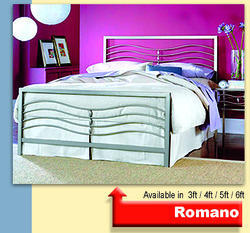 Stainless Steel Queen Bed (SS Romano)