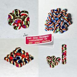 Multicolored  Flat - Handmade Resin Beads