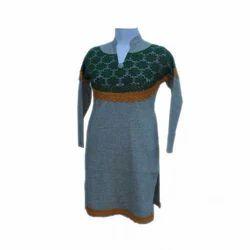 Designer Long Woolen Kurti