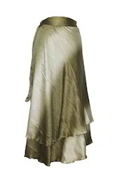 Magic Satin Wrap Skirt for Ladies