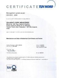 ISO Certificate of Gujarat Cork Industries