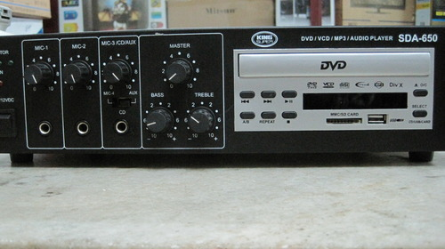 Amplifier With Dvd And Usb Watts Dvd Usb pa Amplifier