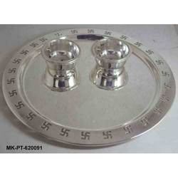 Roli Chawal Silverplated Thali
