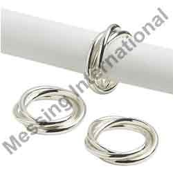 Brass Silver Plated Napkin Ring