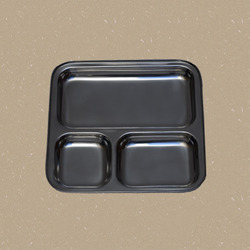Three Compartments Fast Food Plates
