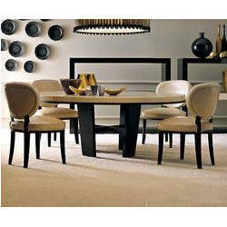 Leather Dining Table