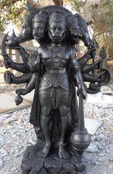Panchmukhi Hanuman Black Granite Stone Statue