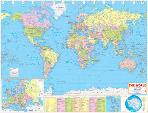 World Map World Map Jumbo Size Manufacturer From Delhi