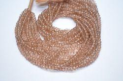 Tan Brown Mystic Quartz Faceted Beads
