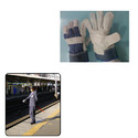 Leather Hand Gloves for Railway
