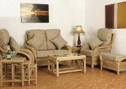 Exceptional Amour Penarth Cane Wood Sofa Set