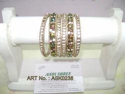 Hyderabadi Bangles with Silver Studs