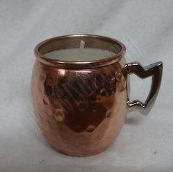 Copper Mini Mug Votive Holder