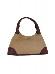 Beige and Brown Combination Women Handbags