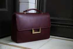 Leather Look Big Clutch/Sling Bag