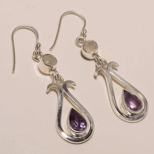 Sterling Silver Amethyst Rainbow Earring 6.23