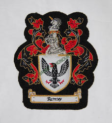 Ramsey(Family Crest)Small Pocket Size Embroidered Badge