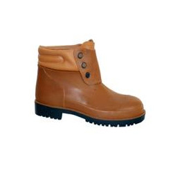 Brown Polyvinyl Chloride Boot