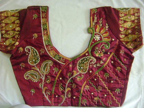 Zardosi Blouse Neck Designs 108
