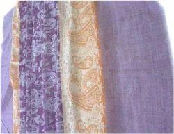 Semi Pashmina Purple Jacquard Shawls