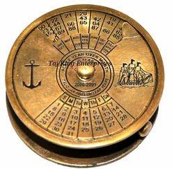 Calendar Brass Compass