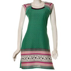 Cap+Sleeved+Printed+Cotton+Kurti