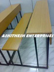 3 Seater Light Wood Desk