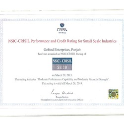 NSIC-CRISIL Certificate