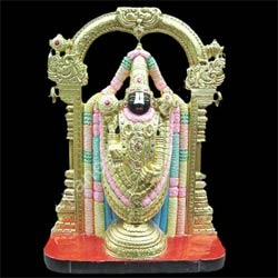 Exquisite Black Tirupati Balaji from Marble