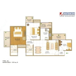 Two Bedroom Flats in Sector 77 Noida