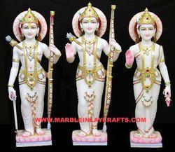 Beautiful Marble Ram Parivar Statue