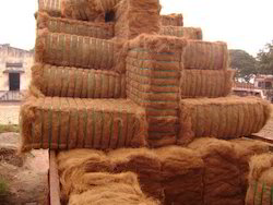 brown coir fiber