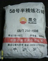 Fully Refined Paraffin Wax 58-60 Kunlun