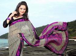 Designer Party Wear Chiffon Printed Saree