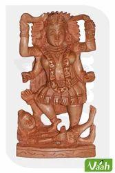 Vaah Carved Wooden Goddess Kali Idol