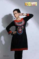 beautiful embroidery party wear tunic and kurti top