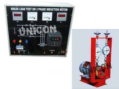 Electrical equipments load test on 3 phase induction for Testing 3 phase motor