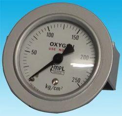 Panel Mount Oxygen Pressure Gauge