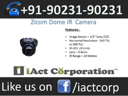 Zicom Dome IR Cameras  in Chandigarh