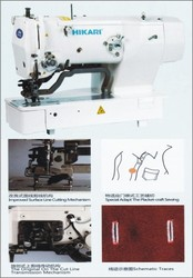 Straight Button High Speed Electronic Sewing Machine